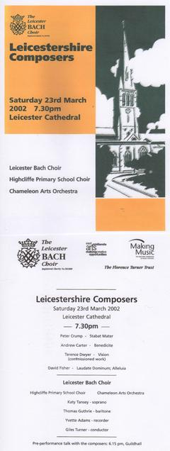 David Fisher - LEICESTERSHIRE COMPOSERS CONCERT 2002